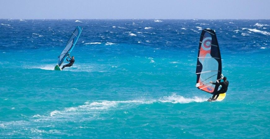 Camping Deux Fontaines Windsurfen